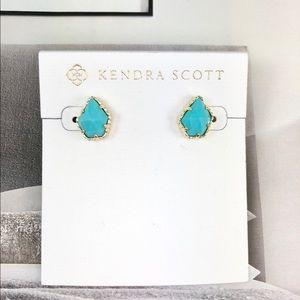 Kendra Scott Tessa turquoise gold earrings